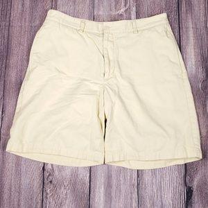 Vineyard Vines Yellow Flat Front Shorts, 34